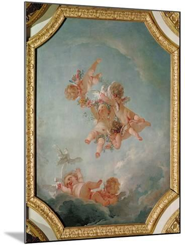 Spring, from a Series of the Four Seasons in the Salle du Conseil-Francois Boucher-Mounted Giclee Print
