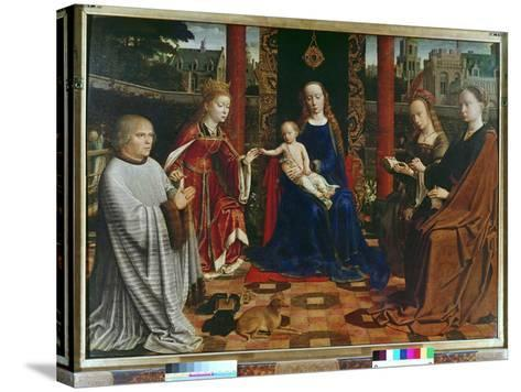 The Virgin and Child with Saints and Donor, 1523-Gerard David-Stretched Canvas Print