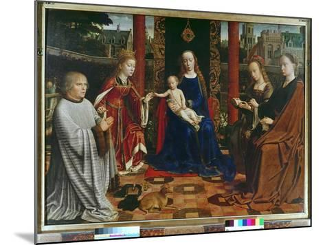 The Virgin and Child with Saints and Donor, 1523-Gerard David-Mounted Giclee Print