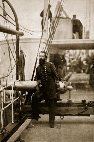Admiral David D. Porter, 1861-65-Mathew Brady-Stretched Canvas Print