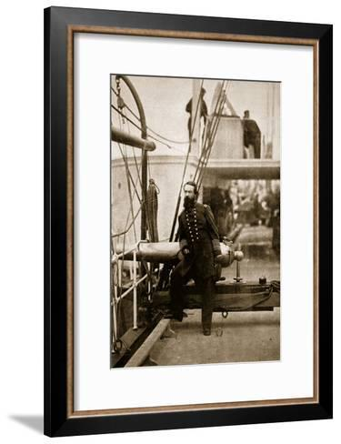 Admiral David D. Porter, 1861-65-Mathew Brady-Framed Art Print