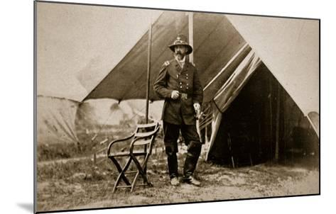 General George G. Meade in Camp, 1861-65-Mathew Brady-Mounted Giclee Print