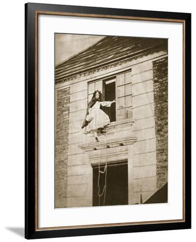 The Elopement, Alice Jane Donkin, 9th October 1862-Charles Lutwidge Dodgson-Framed Art Print