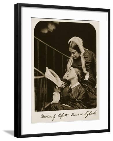 Christina Rossetti and Her Mother Frances Rossetti, 7th October 1863-Charles Lutwidge Dodgson-Framed Art Print