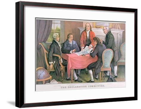 The Declaration Committee, Published by Currier and Ives, New York--Framed Art Print