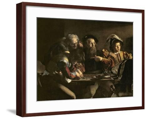 The Calling of St. Matthew, C.1598-1601-Caravaggio-Framed Art Print