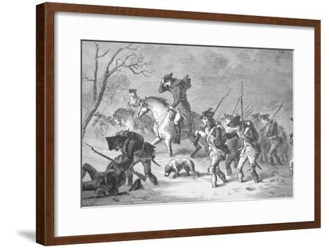 The Ragged and Defeated Continental Army Marching to Encampment at Valley Forge, Winter of 1777-78--Framed Art Print