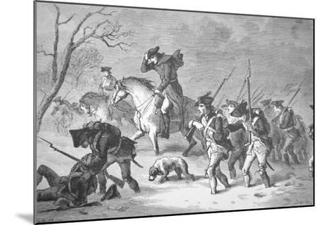 The Ragged and Defeated Continental Army Marching to Encampment at Valley Forge, Winter of 1777-78--Mounted Giclee Print