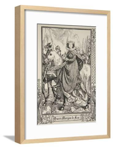 Queen Morgan le Fay, illustration, 'Stories of King Arthur and the Round Table' by Beatrice Clay-Dora Curtis-Framed Art Print