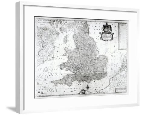 A New Map of the Kingdom of England and the Principalitie of Wales, 1669-William Berry-Framed Art Print