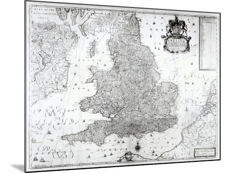 A New Map of the Kingdom of England and the Principalitie of Wales, 1669-William Berry-Mounted Giclee Print