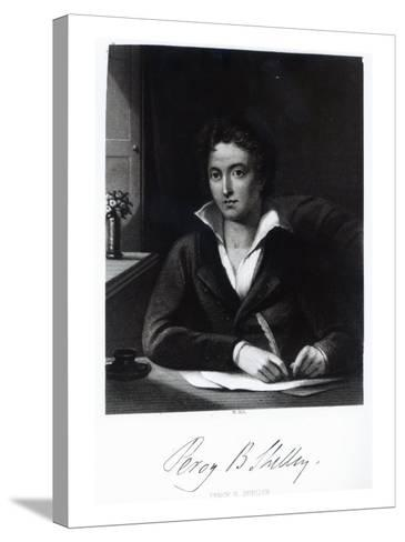 Percy Bysshe Shelley, Engraved by William Holl-Amelia Curran-Stretched Canvas Print