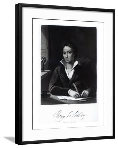 Percy Bysshe Shelley, Engraved by William Holl-Amelia Curran-Framed Art Print