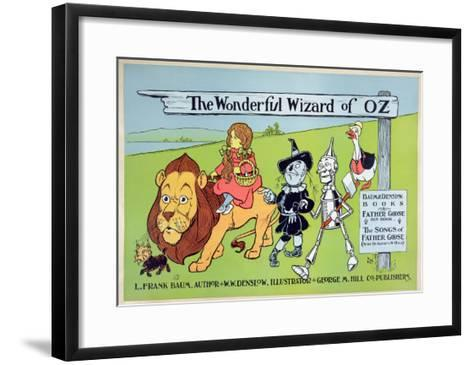 The Wonderful Wizard of Oz and Father Goose, C.1900-William W^ Denslow-Framed Art Print
