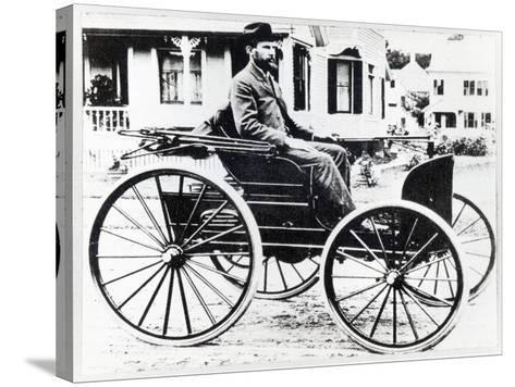 First American Automobile, Designed and Built by Charles and Frank Duryea, 1893--Stretched Canvas Print