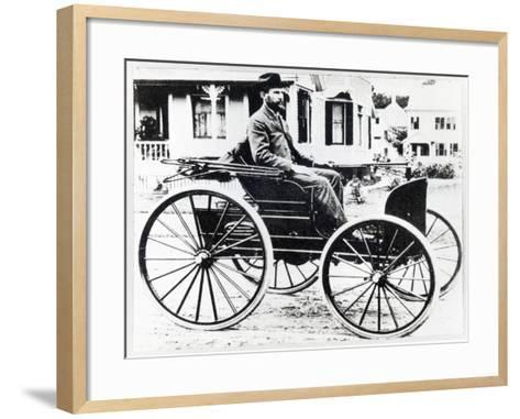 First American Automobile, Designed and Built by Charles and Frank Duryea, 1893--Framed Art Print