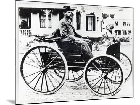 First American Automobile, Designed and Built by Charles and Frank Duryea, 1893--Mounted Giclee Print