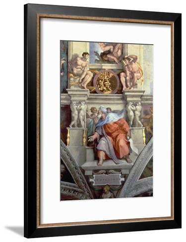 Sistine Chapel Ceiling: the Prophet Ezekiel, 1510-Michelangelo Buonarroti-Framed Art Print