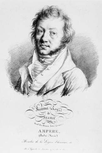 Portrait of Andre-Marie Ampere--Stretched Canvas Print