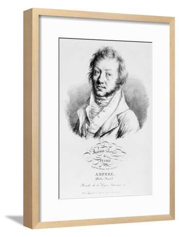 Portrait of Andre-Marie Ampere--Framed Art Print