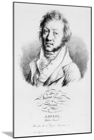 Portrait of Andre-Marie Ampere--Mounted Giclee Print