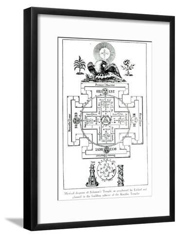 Mystical Diagram of Solomon's Temple, as prophesied by Ezekiel--Framed Art Print