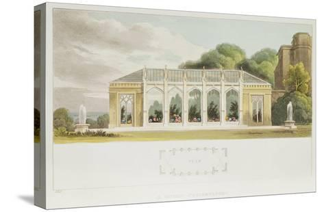 Gothic Conservatory, 1832--Stretched Canvas Print