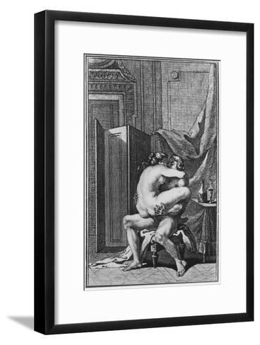 Erotic Scene, Illustration from a French Book--Framed Art Print