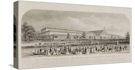 Crystal Palace in Hyde Park for the Great International Exhibition of 1851, pub. by Read and Co.--Stretched Canvas Print