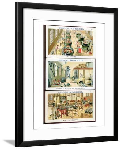Making Chocolate, Image Advertising the Chocolate 'Moreuil', c.1900--Framed Art Print
