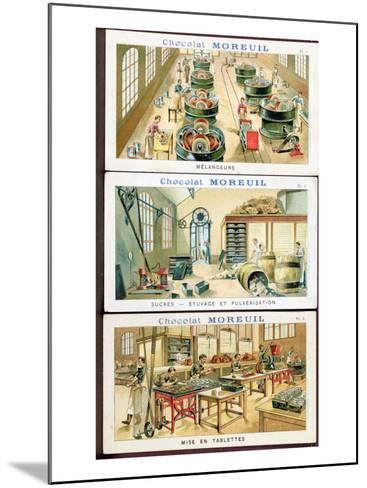 Making Chocolate, Image Advertising the Chocolate 'Moreuil', c.1900--Mounted Giclee Print