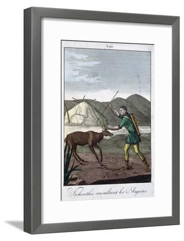 A Chukchi Shaman Consulting the Oracle, 1811--Framed Art Print