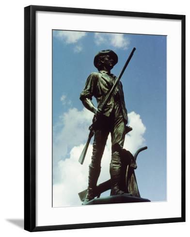 Minute Man Statue, Old North Bridge, 1874-Daniel Chester French-Framed Art Print