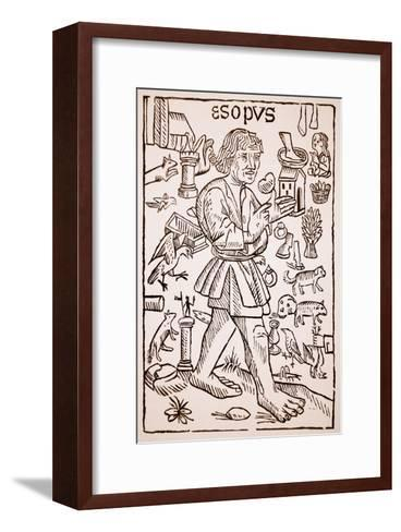Aesop, Frontispiece to 'Aesop's Fables' by William Caxton--Framed Art Print