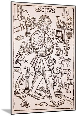 Aesop, Frontispiece to 'Aesop's Fables' by William Caxton--Mounted Giclee Print