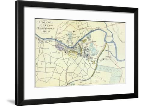 Plan of Lucknow showing Operations in 1857-58, pub. by William Mackenzie, c.1860--Framed Art Print