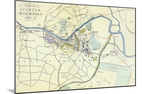 Plan of Lucknow showing Operations in 1857-58, pub. by William Mackenzie, c.1860--Mounted Giclee Print