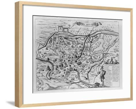 Map of Ancient Rome--Framed Art Print