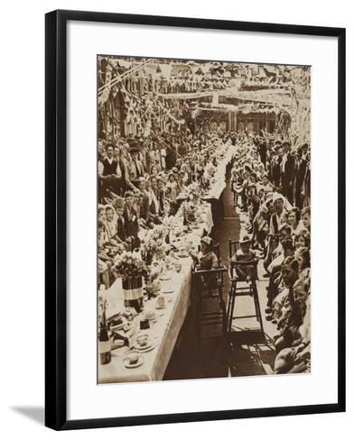 Jubilee Tea Party for Children in Orville Road, Battersea, 1935--Framed Art Print