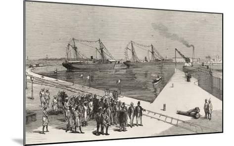Visit of Viceroy of India to the Sassoon Dock at Bombay, from 'The Illustrated London News'-English School-Mounted Giclee Print