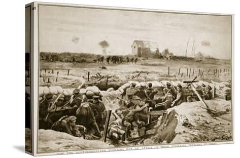 How the Northumberland Fusiliers Met an Attack on their First-Line Trenches at Ypres, 1914-19--Stretched Canvas Print