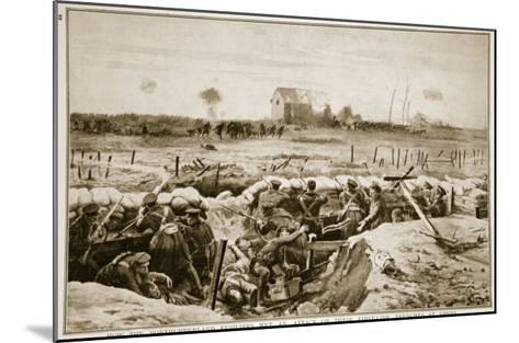 How the Northumberland Fusiliers Met an Attack on their First-Line Trenches at Ypres, 1914-19--Mounted Giclee Print