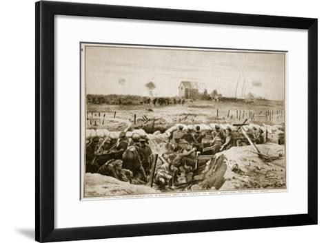 How the Northumberland Fusiliers Met an Attack on their First-Line Trenches at Ypres, 1914-19--Framed Art Print
