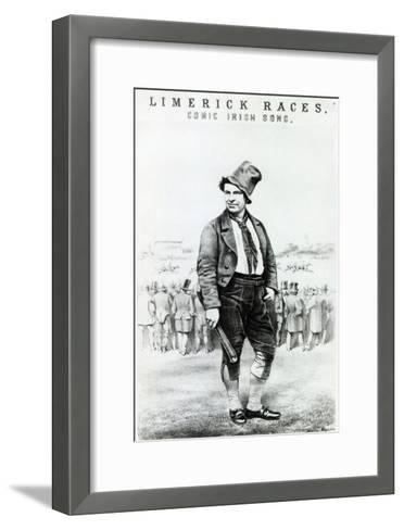 Advertisement for 'Limerick Races' a comic Irish song performed by Sam Collins--Framed Art Print