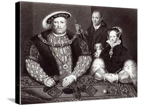 Henry VIII, his daughter Queen Mary and Will Somers, 1821--Stretched Canvas Print