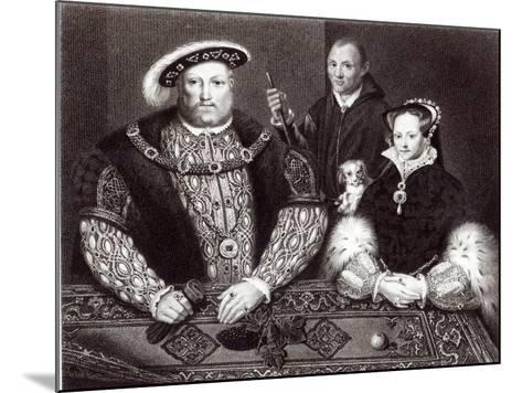 Henry VIII, his daughter Queen Mary and Will Somers, 1821--Mounted Giclee Print