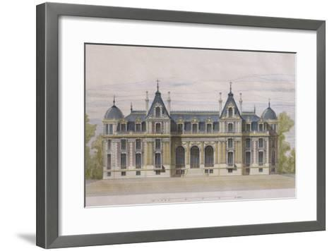 Castle of Neuflize, Garden Facade, Illustration from 'Le Moniteur Des Architectes'--Framed Art Print