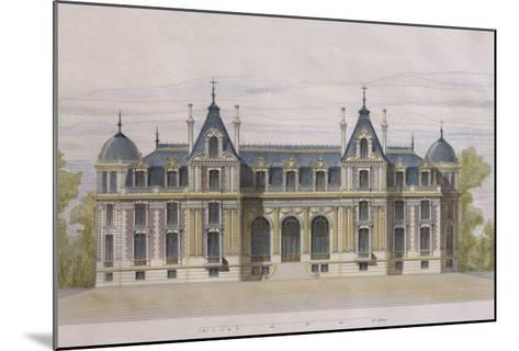 Castle of Neuflize, Garden Facade, Illustration from 'Le Moniteur Des Architectes'--Mounted Giclee Print