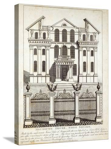 Monmouth House, Soho Square, published by N. Smith, Gt Mays Buildings, 11th January 1791--Stretched Canvas Print