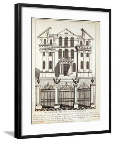 Monmouth House, Soho Square, published by N. Smith, Gt Mays Buildings, 11th January 1791--Framed Art Print